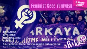 16. Feminist Gece Yürüyüşü 8 Mart'ta İstanbul'da