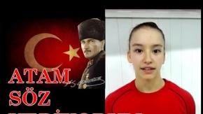 """Ayşe Begüm Onbaşı'dan Atatürk'e """"Söz veriyorum"""""""