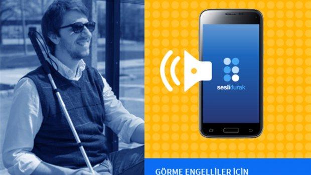 Engelliler için Sesli Durak