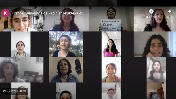 """35 Şehirden Kadınlar Seslendi; """"Korona Günlerinde de Kadınlar Birlikte Güçlü"""""""