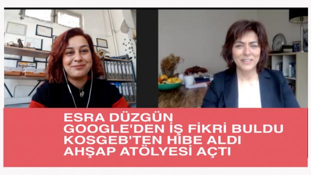 Girişimci Kadın Esra Düzgün, Google'dan İş Fikri Buldu, KOSGEB hibesiyle Ahşap Atölyesi Kurdu