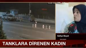 Tanklara karşı duran kadın Safiye Bayat